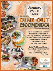 Enjoy the Dine Out Escondido Event – January 25-31