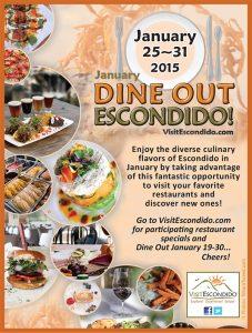 Enjoy the Dine Out Escondido Event – January 25-31