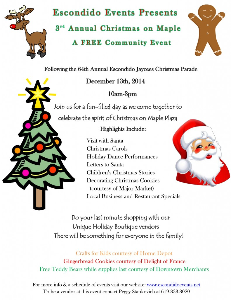 The 3rd Annual Christmas on Maple in Downtown Escondido